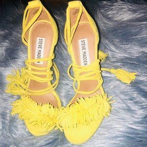 Mustard yellow Steve Madden heels